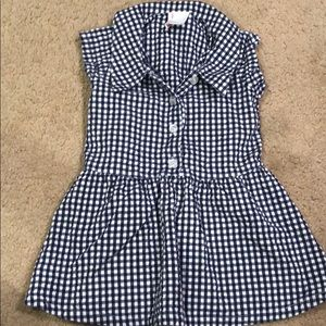 Adorable Hanna Anderson size 80 gingham dress.